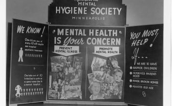 "Photograph of 1944 poster that says ""mental health is your concern"""