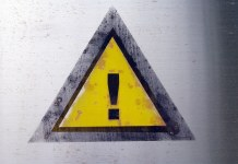 photograph of warning sign