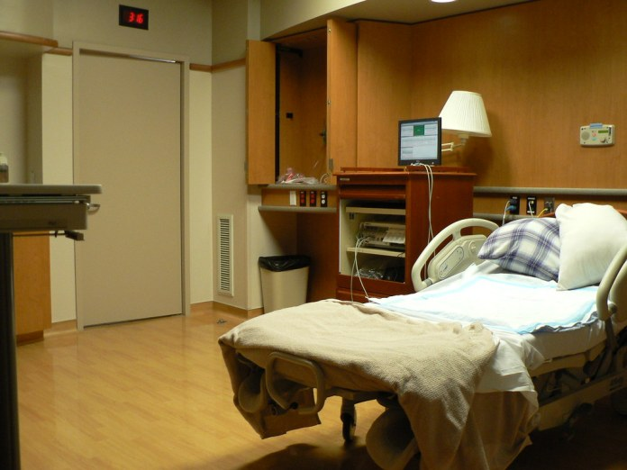 photograph of private hospital room with comfort items