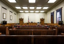 photograph of courtroom