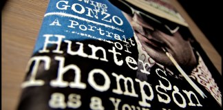 """photograph of dust cover of """"Going Gonzo"""" book"""