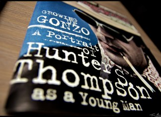 "photograph of dust cover of ""Going Gonzo"" book"
