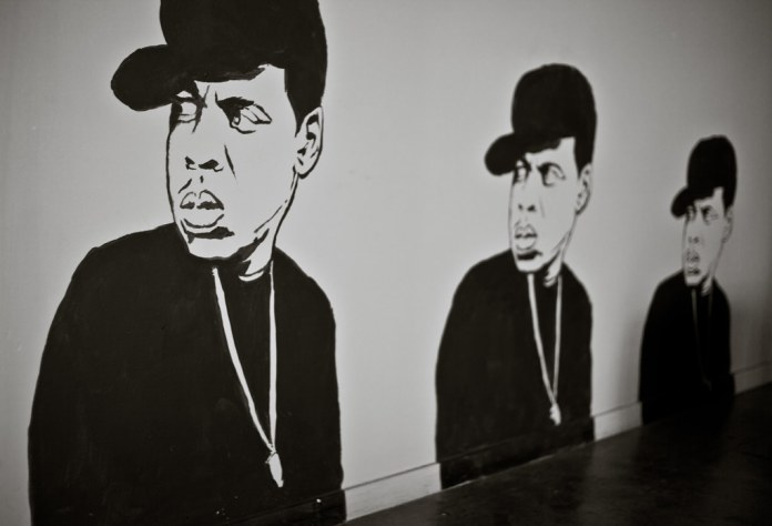 photograph of Jay-Z mural