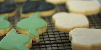 photograph of Star Wars shaped sugar cookies