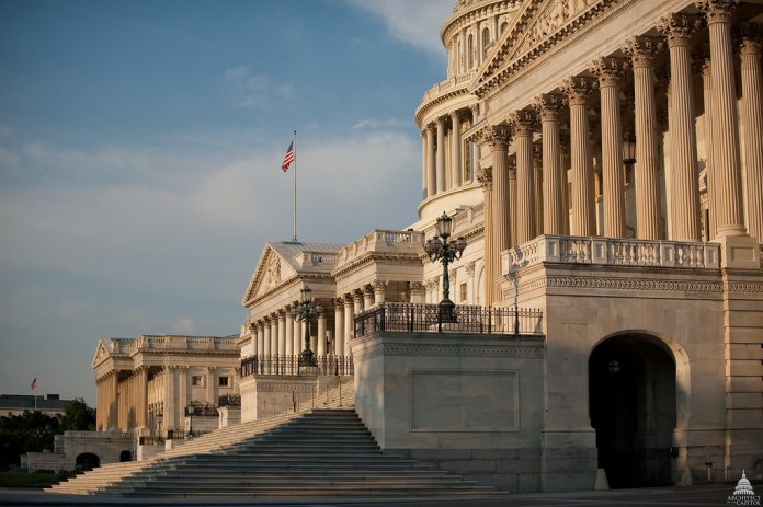 photograph of empty US Capitol steps