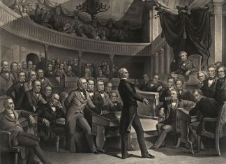 engraving of the Golden Age of the Senate