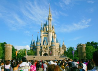 photograph of Disney castle