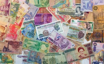 photograph of various banknotes from around the world