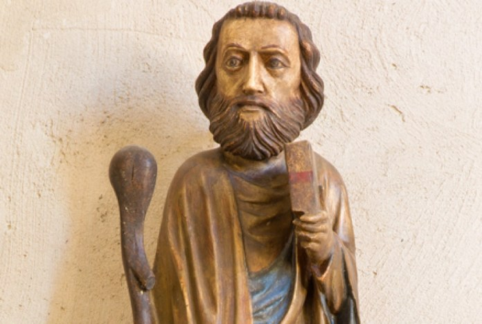 photograph of figurine of the patron saint of lost causes
