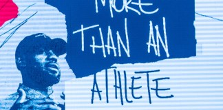 "image of Lebron James with ""More than an Athlete"" slogan"