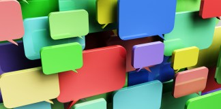 collage of colorful speech bubbles