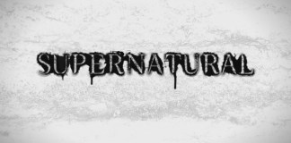 image of the season 7 title card for the show Supernatural
