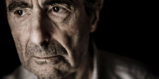 close-up photograph of Philip Roth