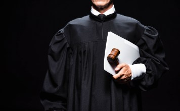 photograph of judge in robes
