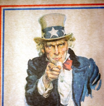 """photograph of Uncle Same """"We Want You!"""" poster"""