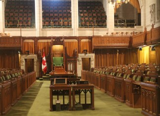 photograph of interior of Canada's House of Commons