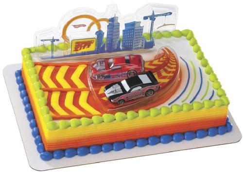 Boy Hot Wheels Cake Design