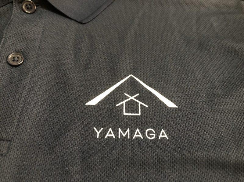 会社ロゴ入りシャツ