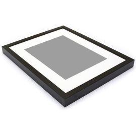 marcos y portafotos - marco con passepartout - lacado 19-32