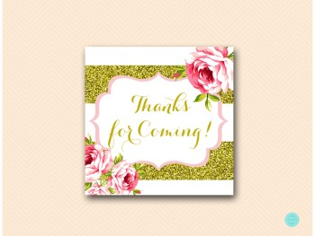 SN432-Thank-You-Tags gold and pink floral bridal shower favors baby shower