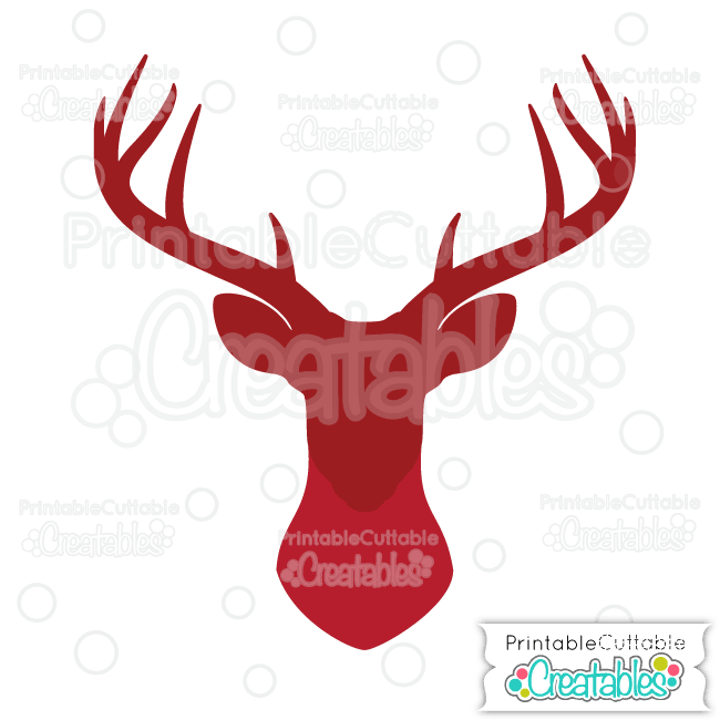 Download Deer Head Silhouette Free SVG Cut File for Silhouette ...