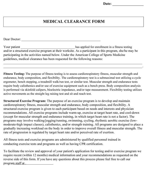 Sample Medical Clearance Letter For Dental Procedures | Docoments ...