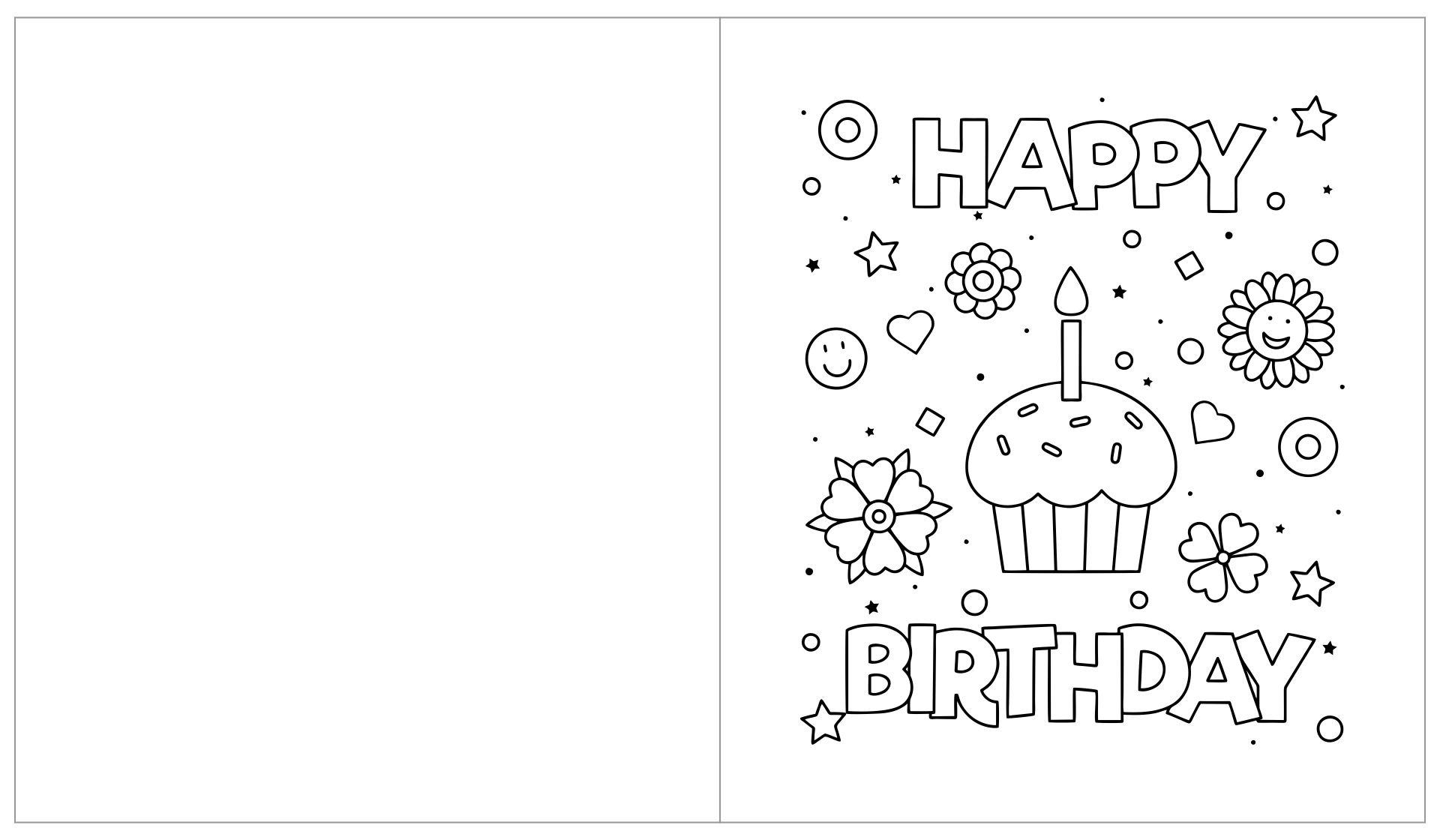 10 Best Printable Birthday Cards To Color Printablee Com
