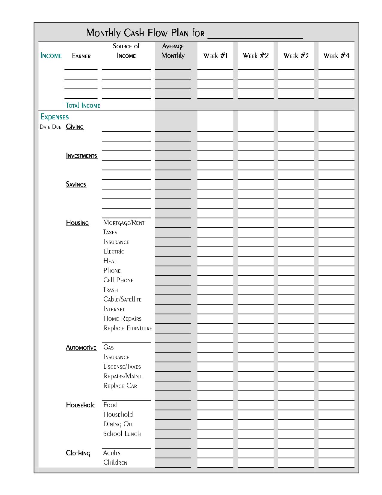 Free Worksheet Free Bi Weekly Budget Worksheet free bi weekly budget template monthly worksheet 6 best images of printable template