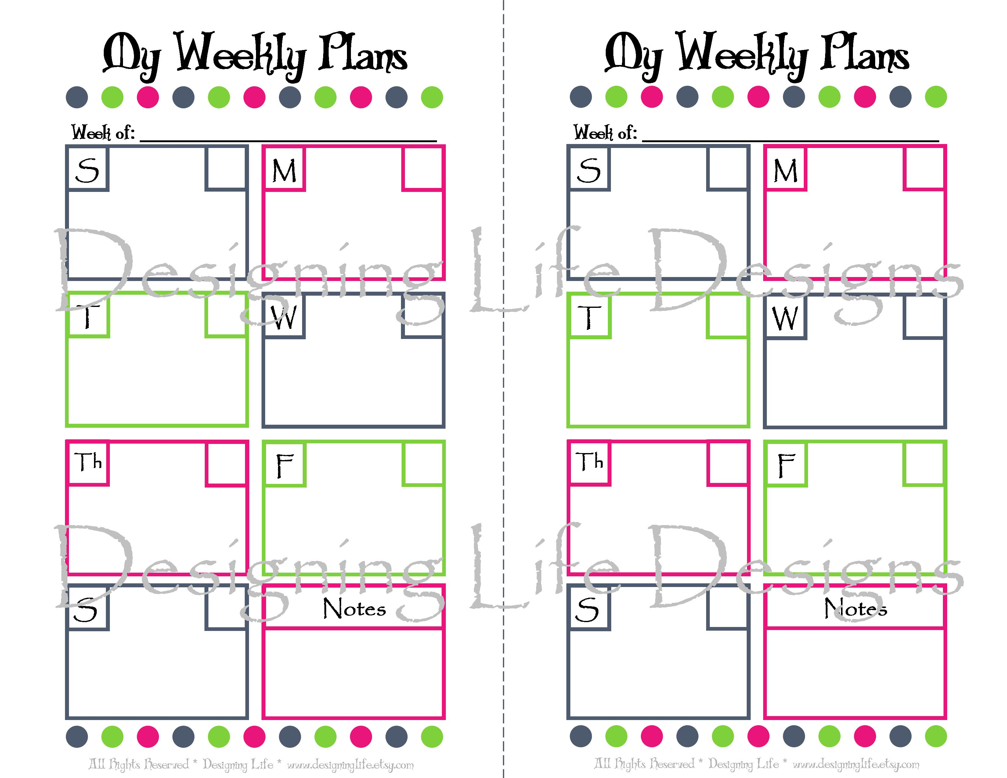 8 Best Images Of Printable Holiday Planner Sheets