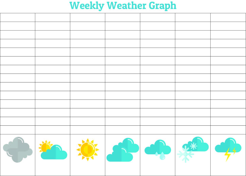7 Best Kindergarten Weather Graph Printable