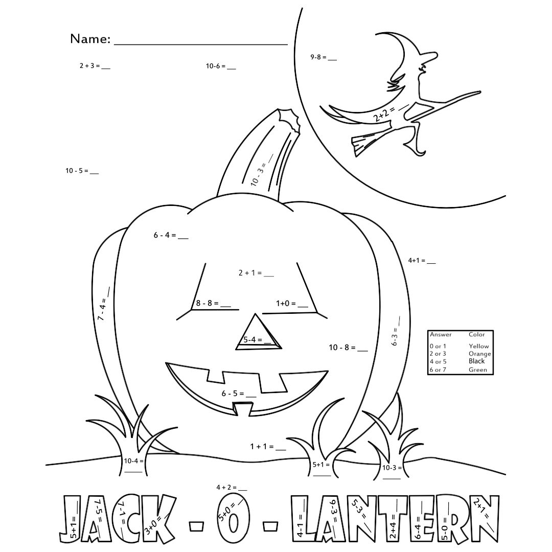 Middle School Math Worksheets Coloring Pages