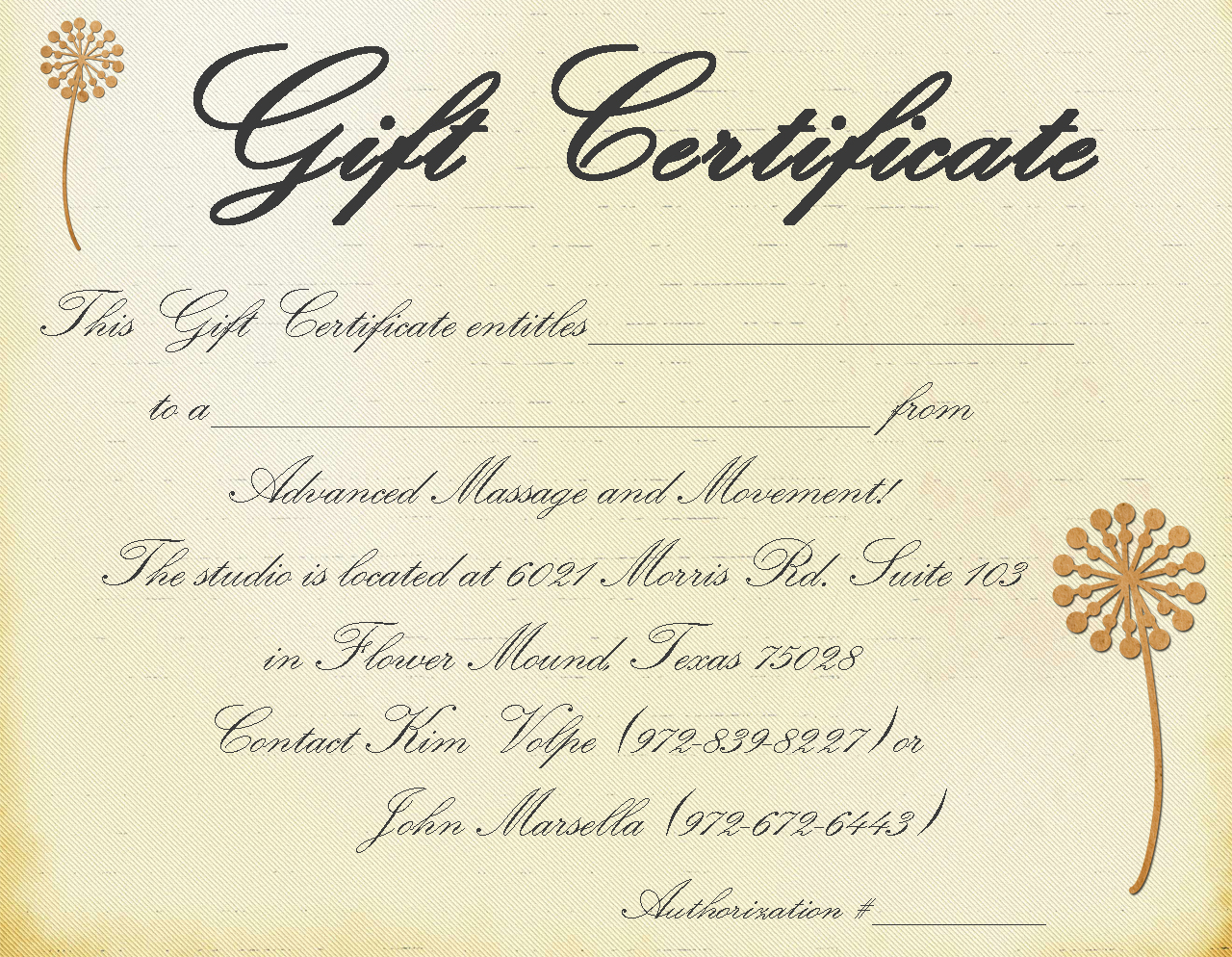 Free Printable Gift Certificate Templates Online download free ...