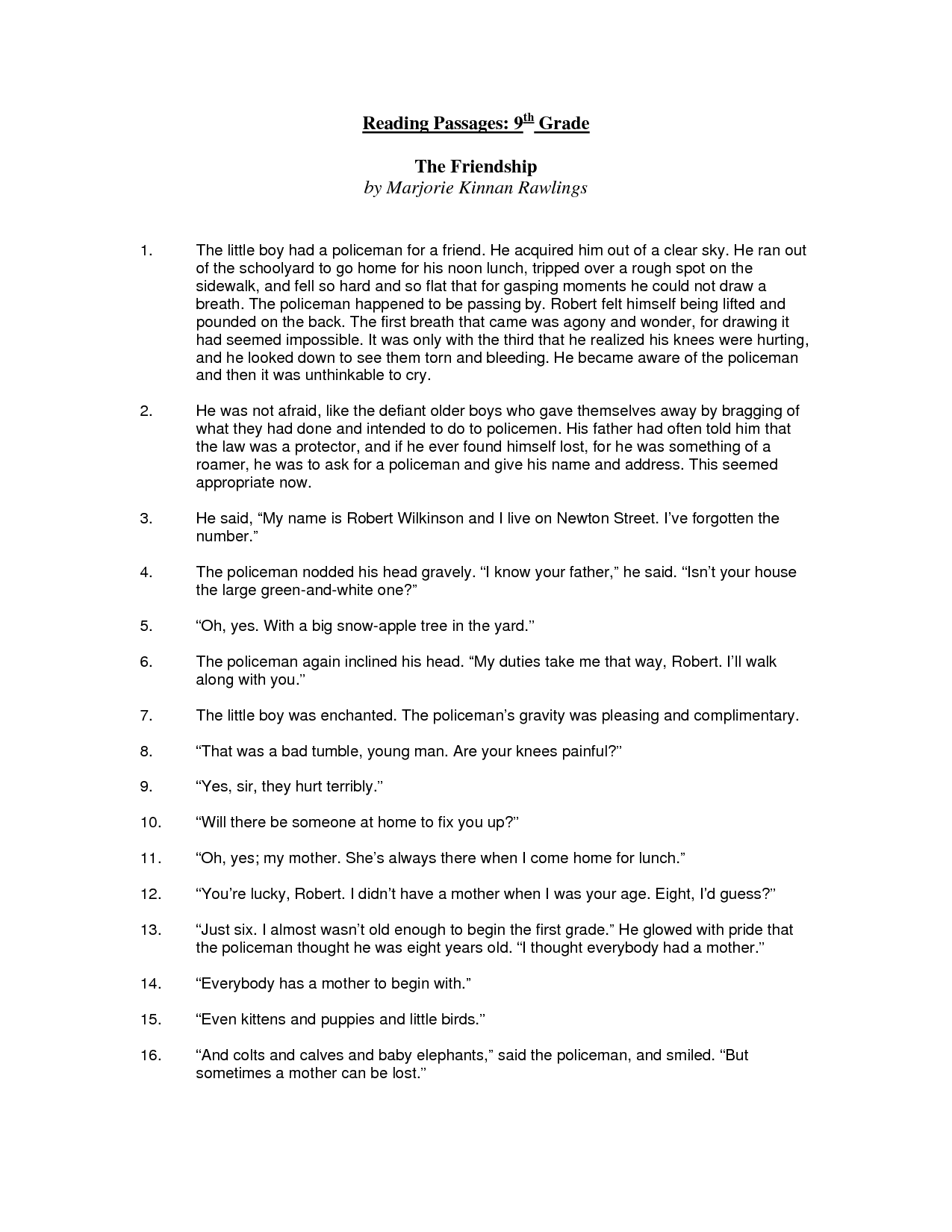 9 Best Images Of Printable 8th Grade Comprehension Worksheets
