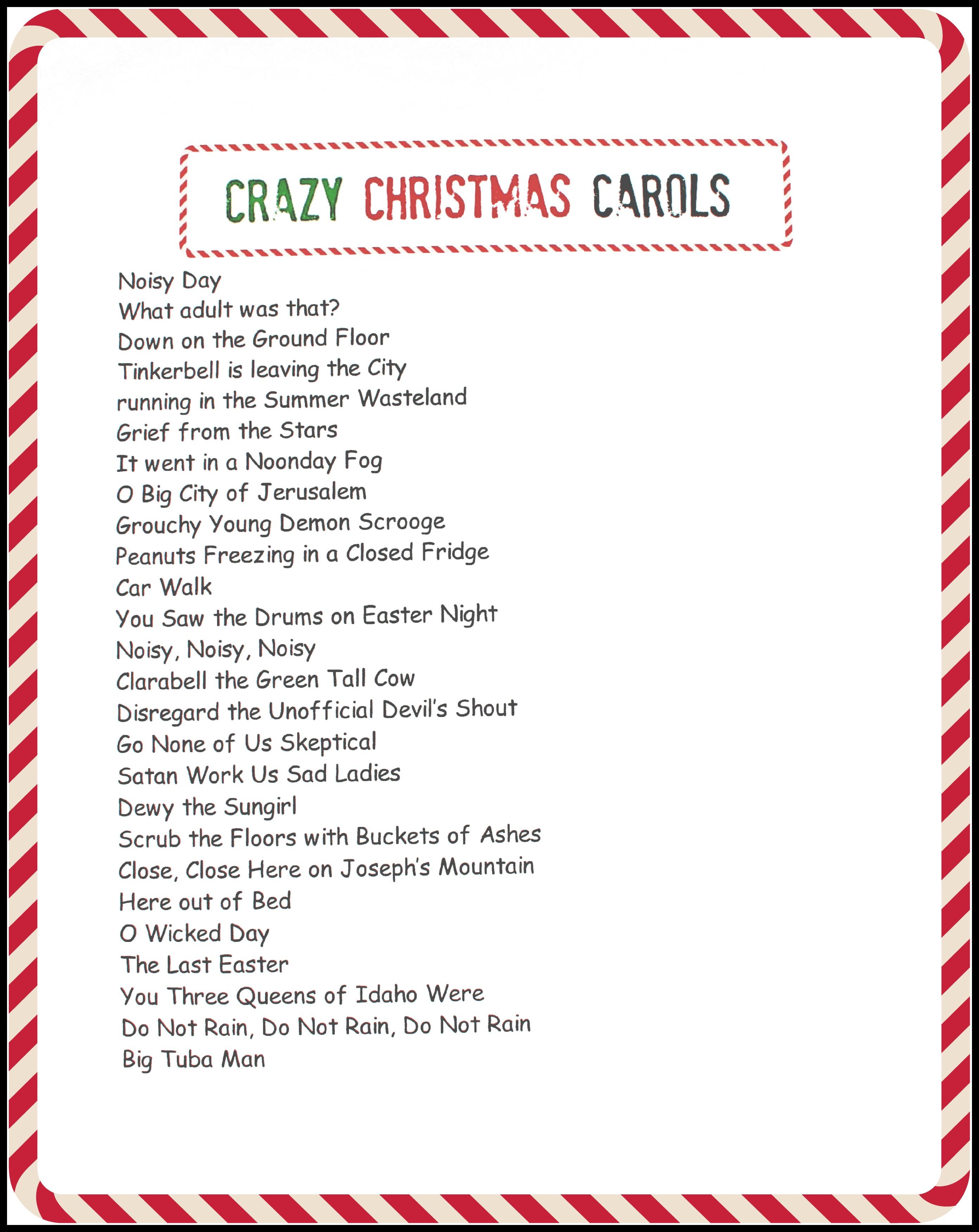 8 Best Images Of Christmas Carols Printable