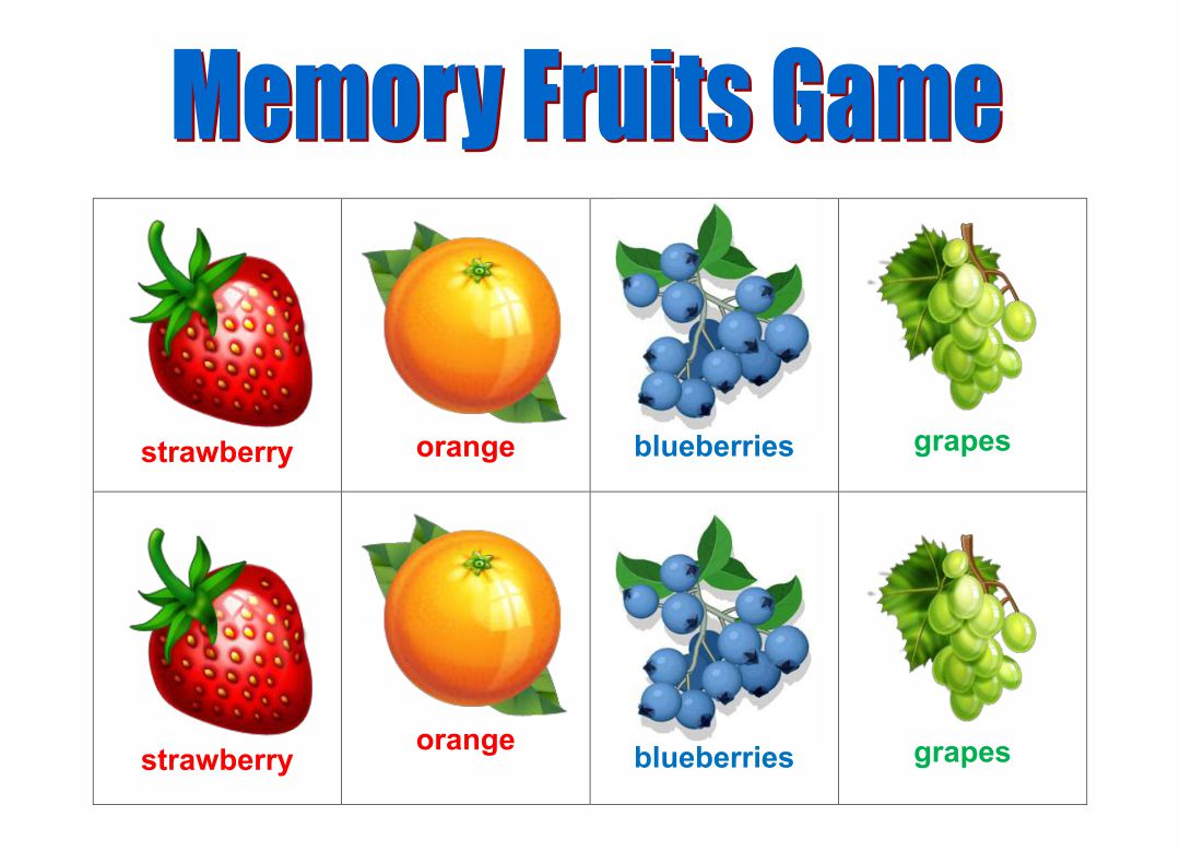 4 Best Images Of Food Memory Game Printable