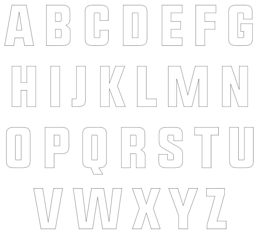 7 Best 4 Inch Alphabet Stencils Printable