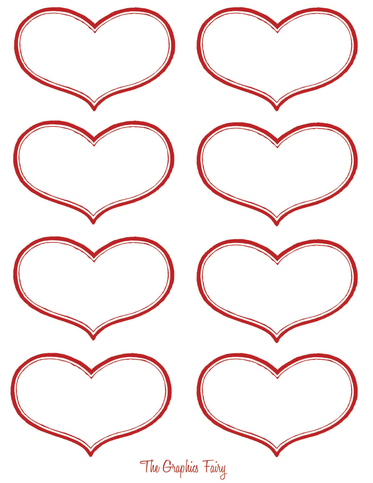 6 Best Images Of Printable Heart Tags