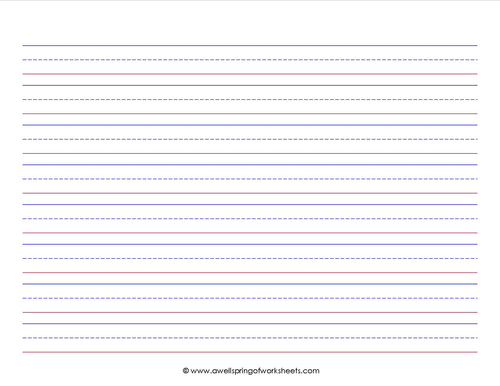 Kindergarten Lined Paper Template primary paper lined paper and – Lined Paper Template Kids
