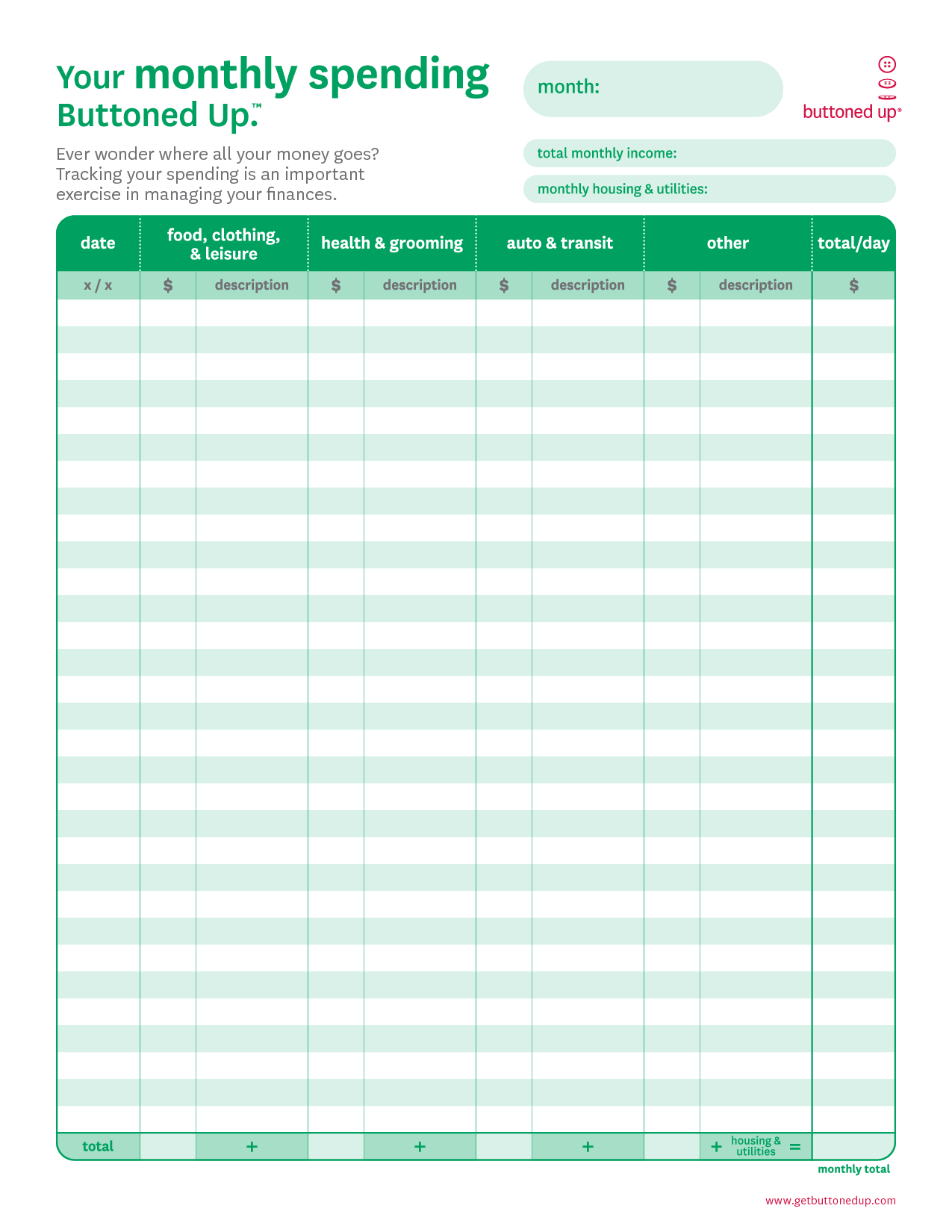 7 Best Images Of Monthly Household Budget Template