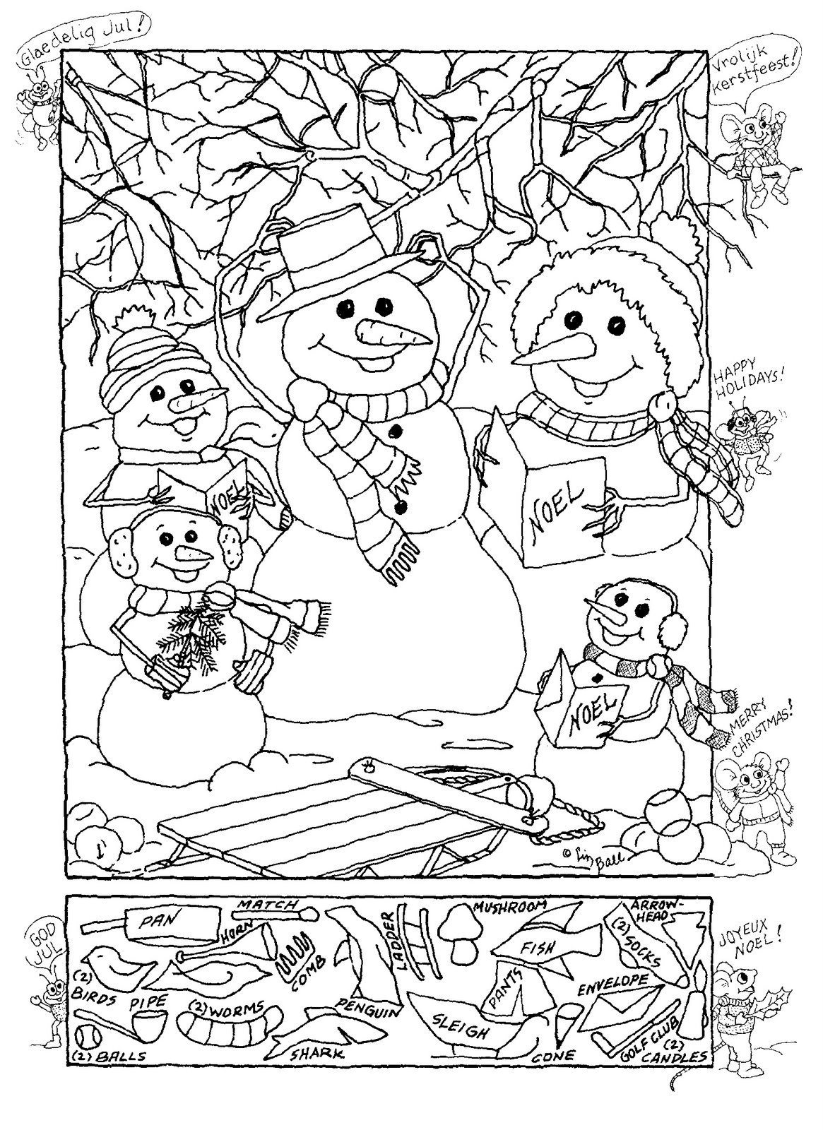 5 Best Images Of Christmas Hidden Pictures Printables