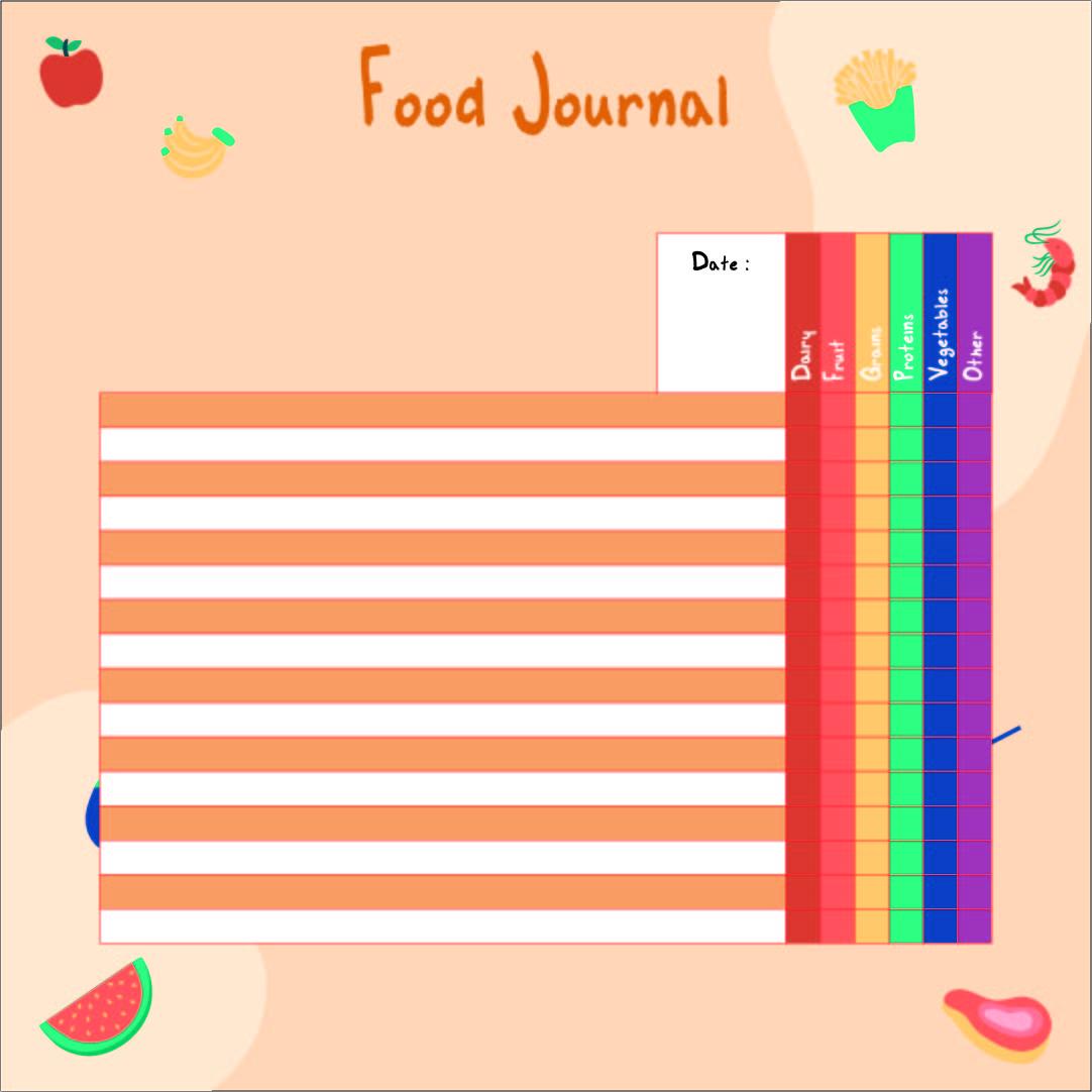 9 Best Images Of Printable Food Journal Worksheet