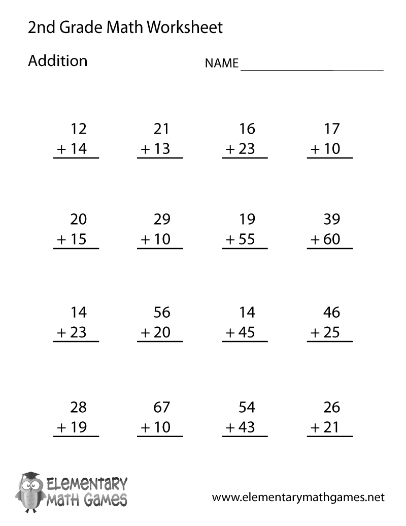 Uncategorized Math Worksheet For Second Grade worksheet free printable second grade math worksheets fiercebad addition coloring pages 2nd fun to 12 fish