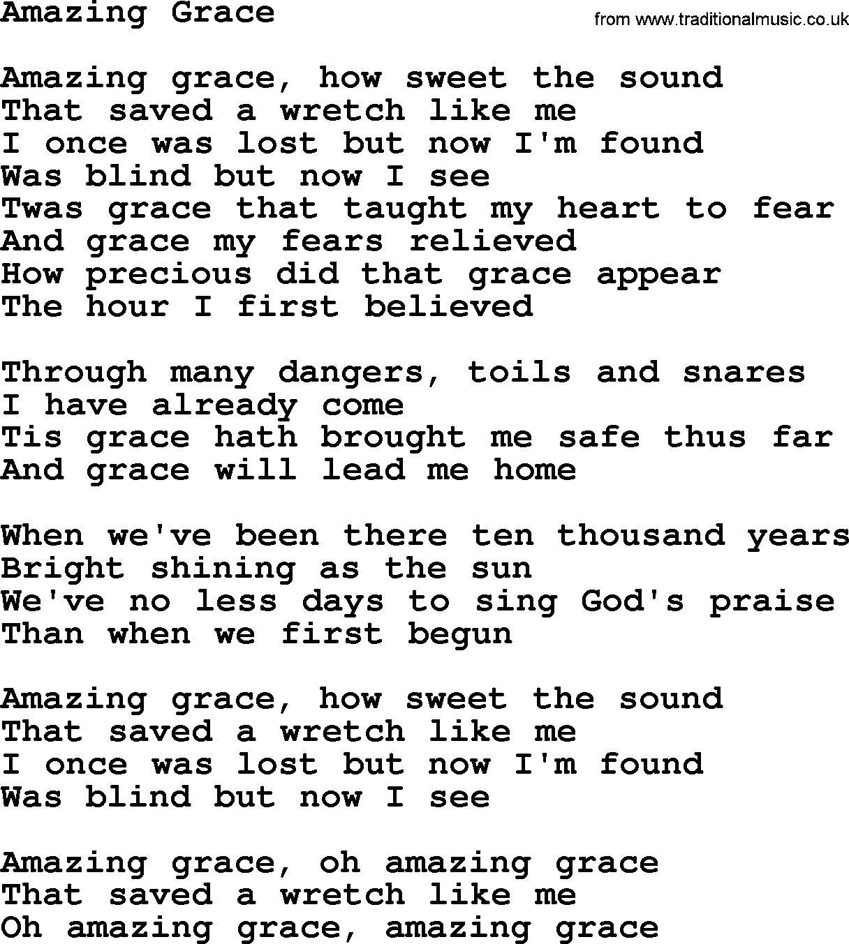 Fine Amazing Grace Piano Chords For Beginners Gift Song Chords
