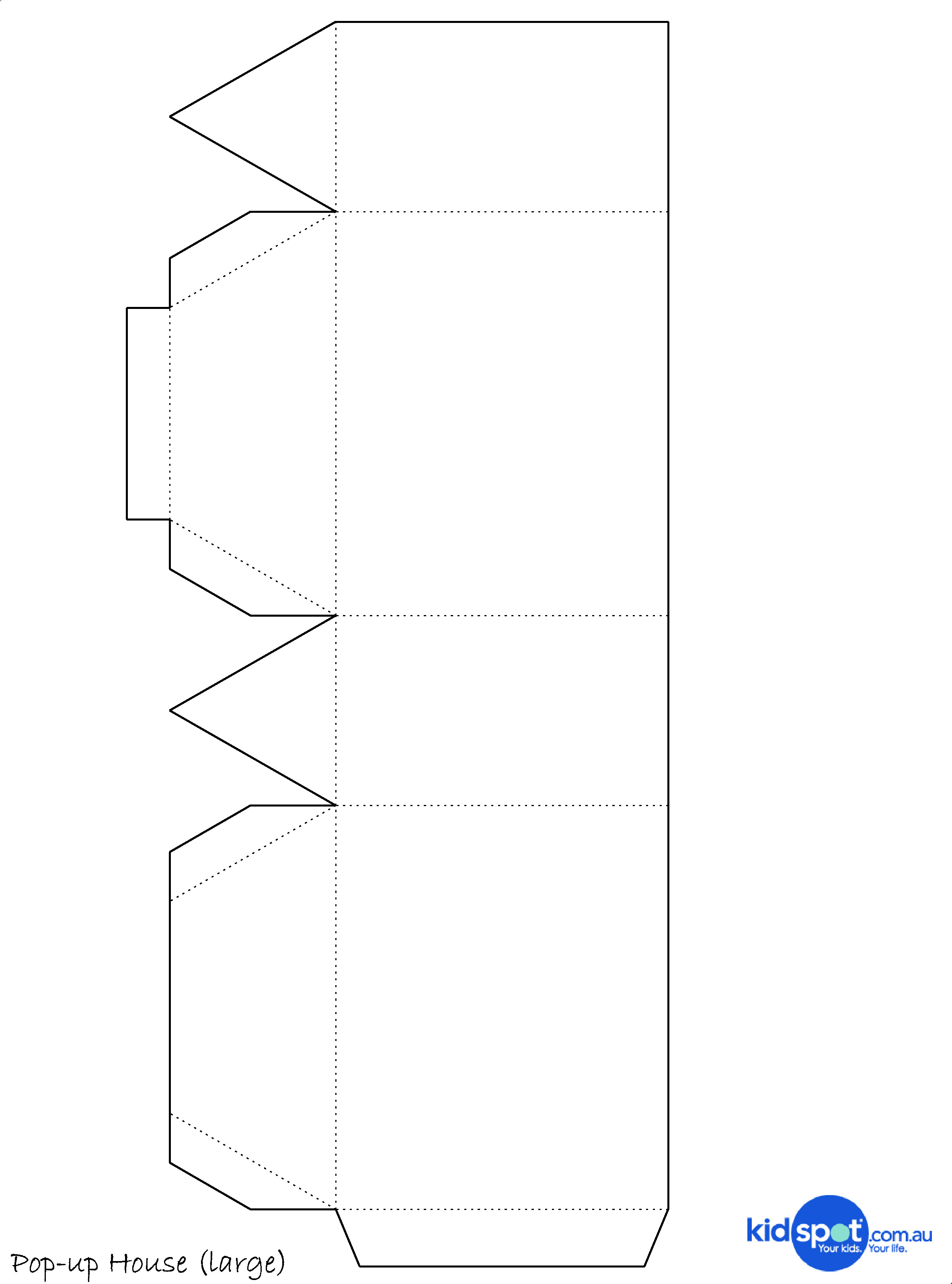 7 Best Images Of Free Printable Paper House Template