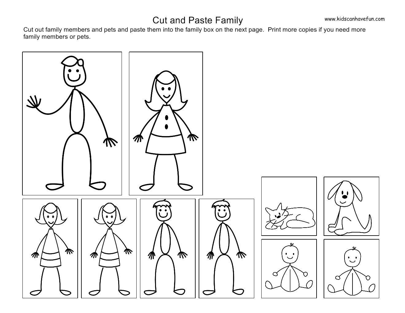 4 Best Images Of My Family Preschool Printables Free