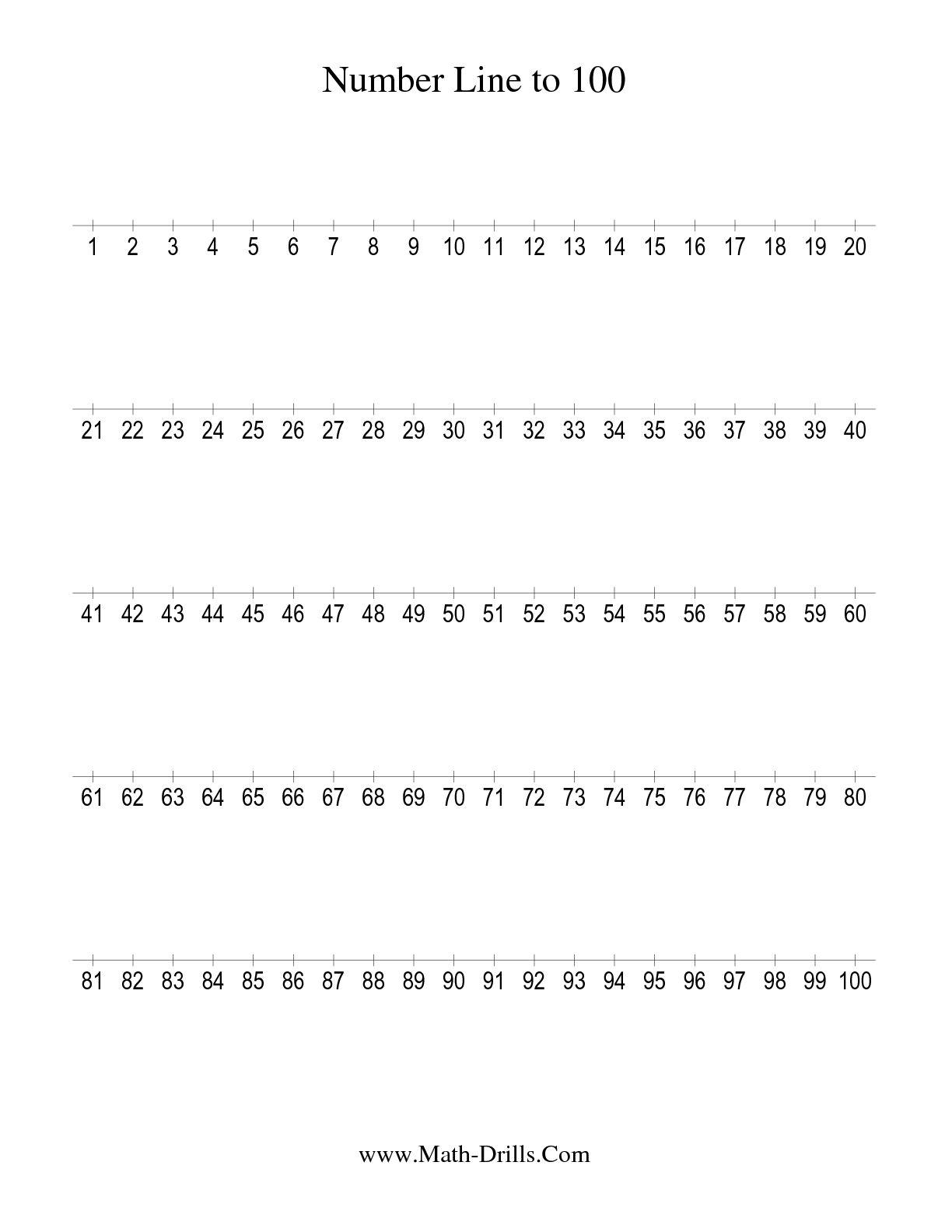 6 Best Images Of Printable Number Worksheets 1 100