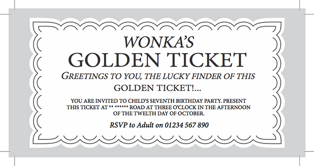 Golden Ticket Templates. spark and all charlie and the chocolate ...