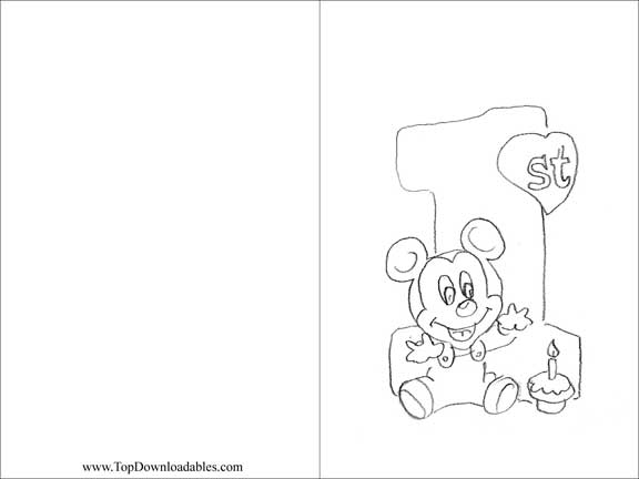 free happy birthday coloring pages. if you would like to print and ... - Minnie Mouse Birthday Color Pages