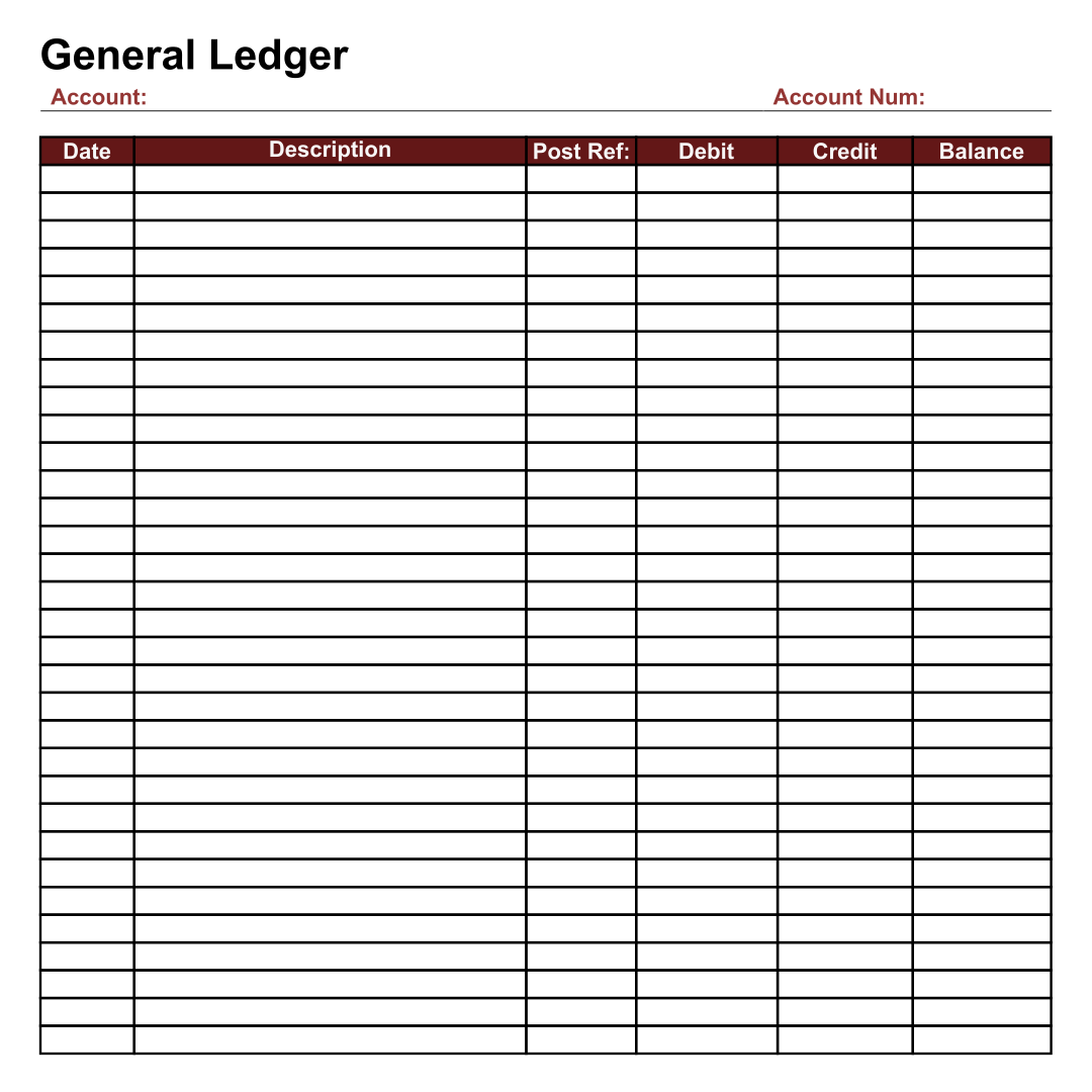 Monthly Ledger Template spreadsheet template free printable – Ledger Template Free