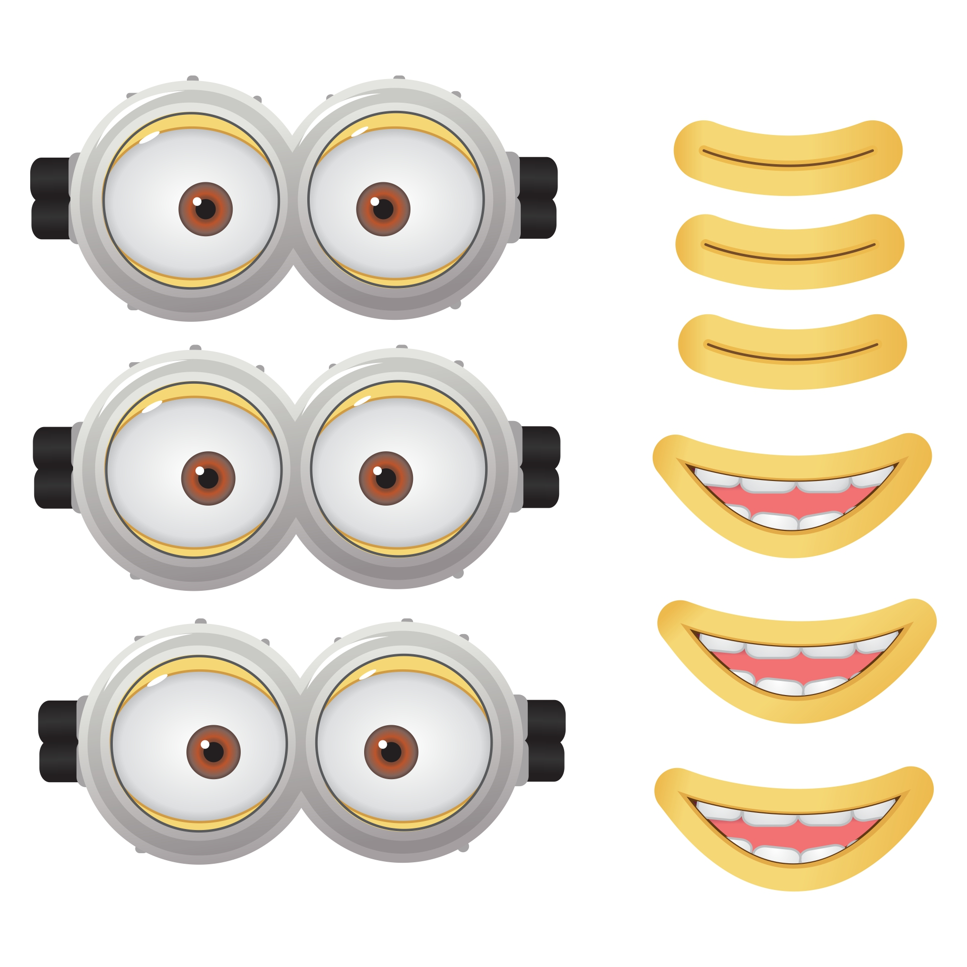image regarding Minion Printable Eyes named Minion Goggle Template. minion goggles template minion